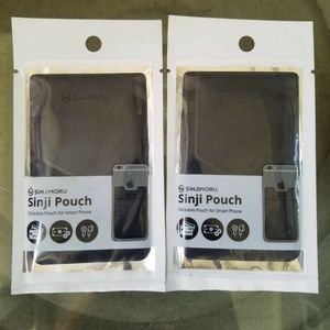 Sinji Pouch Stick On Phone Card Holder Set of 2
